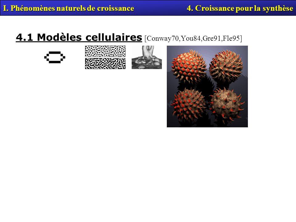4.1 Modèles cellulaires [Conway70,You84,Gre91,Fle95]